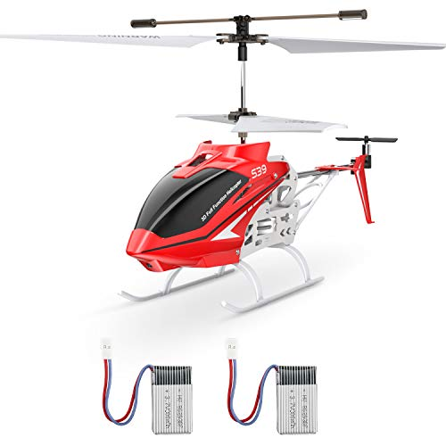 Mini RC Helicopter, SYMA S39 Aircraft with 3.5 Channel,Gyro Stabilizer and High &Low Speed, Sturdy Alloy Material, Multi-Protection Drone for Kids and Beginners to Play Indoor-Red