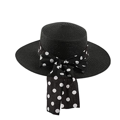 Weiliru Children Floppy Summer Sun Beach Straw Hat UPF50 Foldable Wide Brim