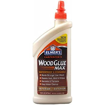 Elmer's E7310 Carpenter's Wood Glue Max, Interior/Exterior, 16 Ounces