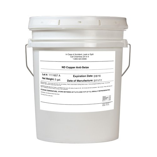 Vibra-TITE 9071 Copper Anti-Seize Lubricant Compound, 5 Gallon Plastic Pail by Vibra-TITE