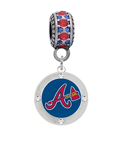 Atlanta Braves Charm with Connector Will Fit Pandora, Troll, Biagi and More