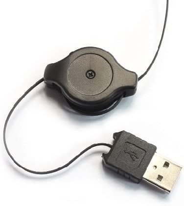 Crazy Cart 6082 Mini USB Retractable Cable Optical Mouse for PC Laptop