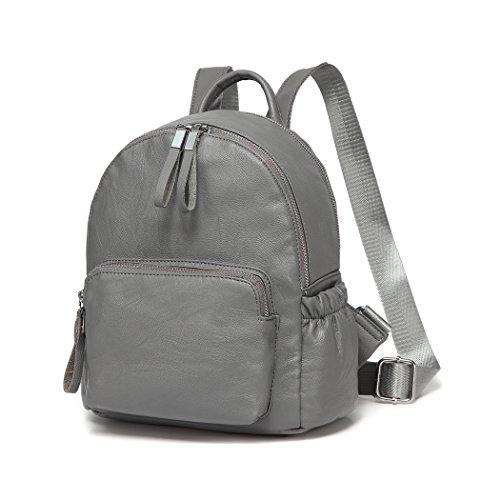 Bag Backpack Women Backpack Backpack Grey School Backpack Girls Lightweight Pu Fashion Leather Mini nUxv4vz