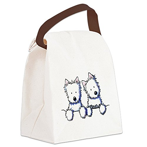 (CafePress - Pocket Westie Duo Canvas Lunch Bag - Canvas Lunch Bag with Strap Handle)