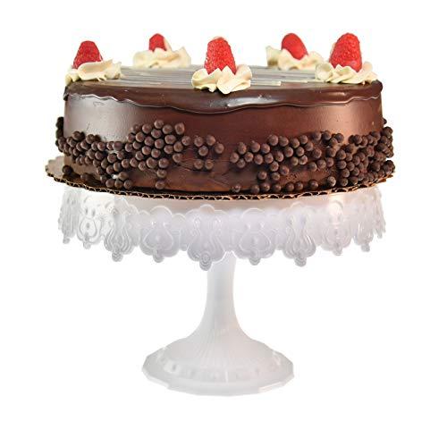- HOME-X Elegant White Cake Stand, Dessert Holder, Cake Platter, Wedding Supplies, 9
