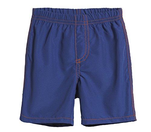 City Threads Big Boys' Swimsuit Swim Trunks Shorts, Smurf with Orange, 8 -