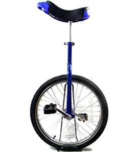 Blau 20 Einrad mit Chrom-Rad (Blue Unicycle)