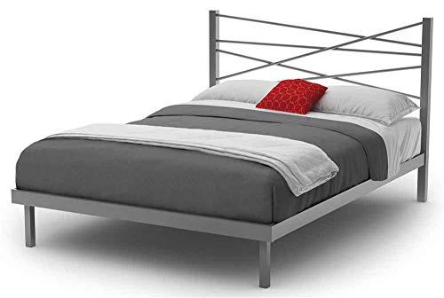 - Amisco Crosston Metal Platform Bed, Queen Size 60