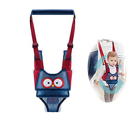 Baby Walker, Adjustable Safety Stand and Walk Learning Assistant for Baby, Multi-Function Baby Walking Harness, Breathable Material, Walker for 5-24 Month(Mesh Blue)