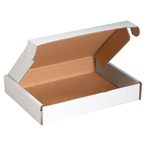 3 White Literature Mailers (Aviditi MFL12113 Corrugated Deluxe Literature Mailer, 12