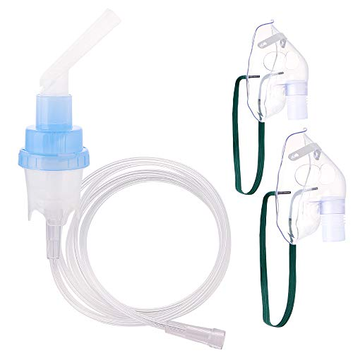 (Universal Type Compressor Cool Mist Inhaler Accessories Updated Inhaler Replacement Parts Mouthpiece Mask for Kids and Adults)
