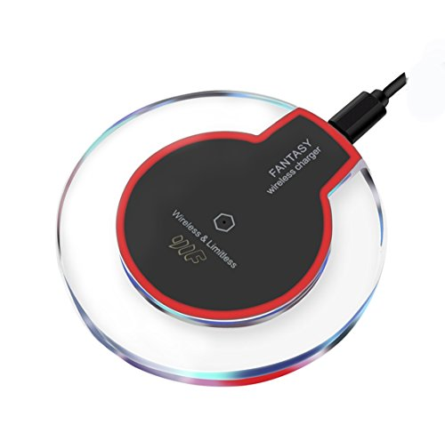iPhone X Wireless Charger,Youlifang Qi Wireless Charging Pad [Sleep-Friendly] for iPhone X iPhone 8 Plus iPhone 8 Samsung Galaxy Note 8/S8/S8 Plus/S7/S7 Edge/S6, Nexus 7/6/5,Wireless Charger