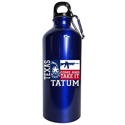 Tatum Texas Come And Take It Ar15 - Water Bottle Metallic Blue