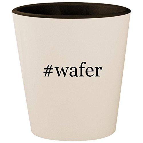 #wafer - Hashtag White Outer & Black Inner Ceramic 1.5oz Shot -