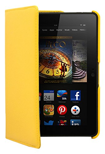 "Trenro Rotating Case for New Kindle Fire HDX 7"" Yellow"