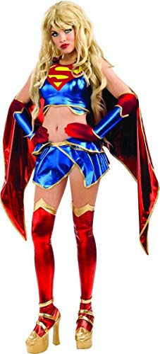 Secret Wishes Womens DC Comics Ame-comi Heroine Series Supergirl Costume, Red/White/Blue, -