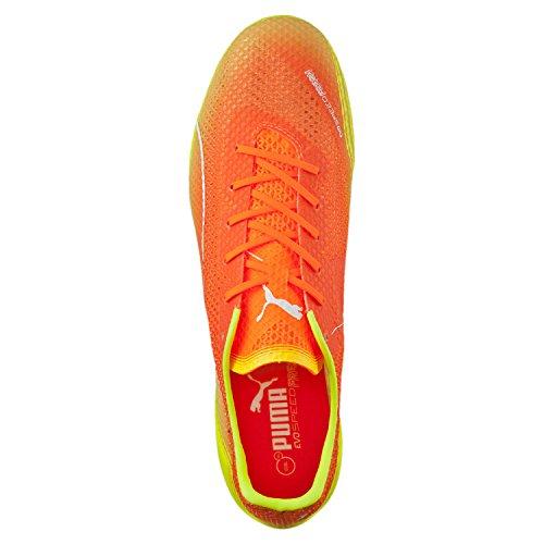 Puma Evospeed Frais Sl Super Léger Fg Orange Jaune Blanc Mens Taille 11.5