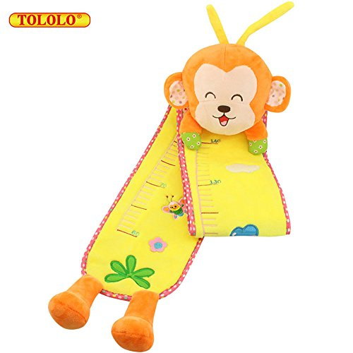 Heights Plush (TOLOLO Cartoon Plush Height Measurement Ruler for Baby Kids Early Educational Toy (Monkey))