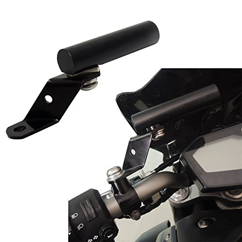 KEMIMOTO Motorcycle Phone GPS USB Charger Holder Extender Bracket 8mm 10mm Mirror Mount Clamp for Honda Kawasaki Suzuki KTM BMW Ducati scooters