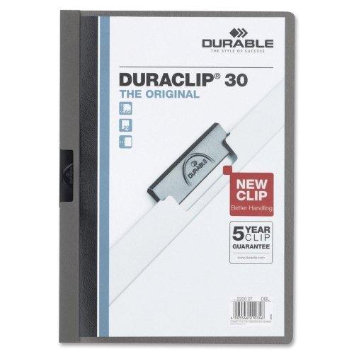 Wholesale CASE of 25 - Durable Duraclip Report Covers-DuraClip Report Cover, 30 Sheet Capacity,11''x8-1/2'',Graphite