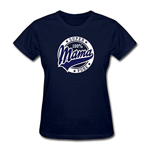 Spreadshirt Women's Super Mama T-Shirt, navy, XL
