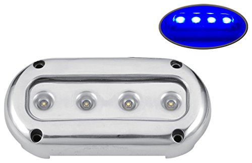 Pactrade Marine Underwater Light Standalone Unit Boat 4 LED, Blue, 2 Piece by Pactrade Marine