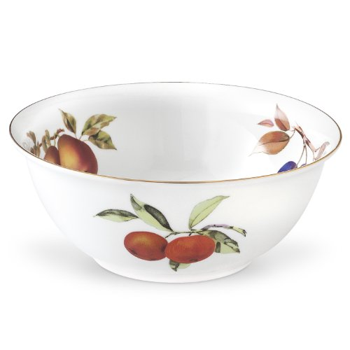 Royal Worcester Fine Porcelain - Royal Worcester Evesham Gold Porcelain Deep Salad Bowl
