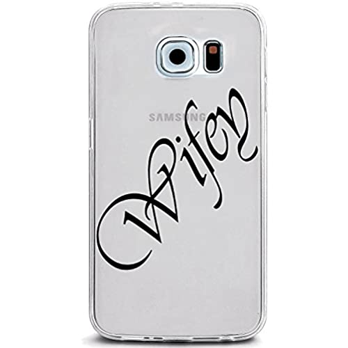 UV Printed TPU Case for Galaxy S7 - Wifey Script Letters (Color Ink on Clear Case) Sales