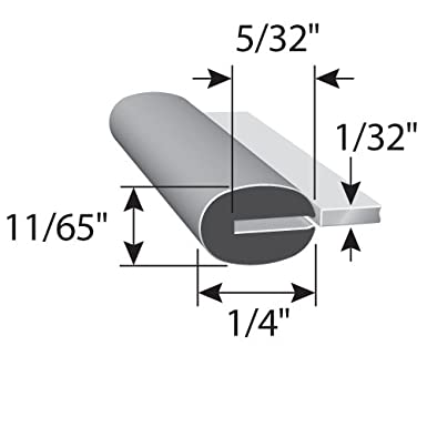 """Fits 1//4/"""" Edge Boats Machinery Push-On Edge Guard for Sharp Edges Trim-Lok Rubber Edge Trim Cars 1//2/"""" Leg Length Flexible Neoprene Edge Protector for Sharp and Rough Surfaces and More Easy Install 25 Length"""
