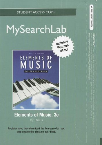 MyLab Search with Pearson eText -- Standalone Access Card -- for Elements of Music (3rd Edition) (MySearchLab (Access Co