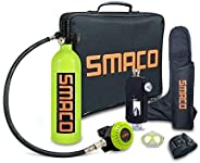 SMACO Scuba Diving Tank Equipment S400 Plus, 1L Mini Scuba Tank with High Pressure Air Pump- Free Breathing Ab