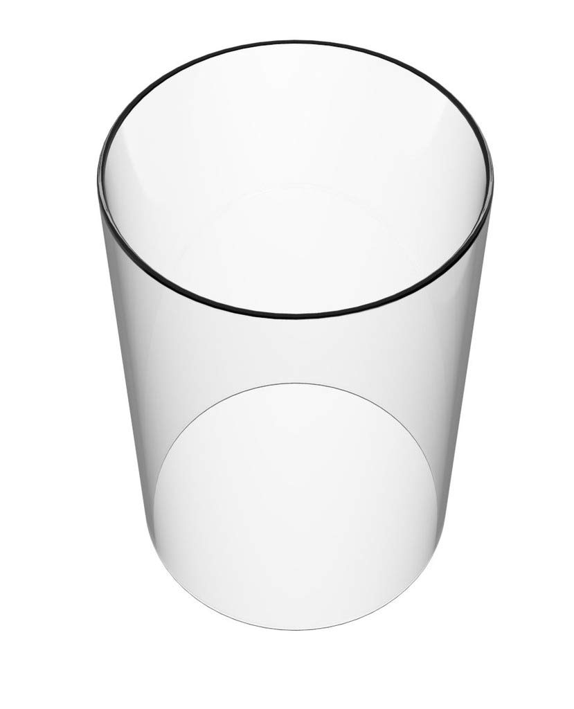 Amayan Tall Glass Cylinder Vase Glass Chimney Open End 12'' High 4.3'' Wide - Suitable for Most Popular Candles-Hurricane Candle Holder Glass - (Multiple Specifications)