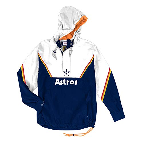 Mitchell & Ness Houston Astros MLB Men's Anorak Half Zip Pullover Jacket
