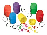 """Party Perfect Monkeys-in-a-Barrel Game Keychain Favours, Plastic, 2"""" x 1"""", Pack of 12"""