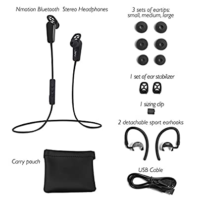 Jarv NMotion PRO Sport Wireless Bluetooth 4.0 Stereo Earbuds with Built in Microphone - Pink (up to 5 hours of playtime)