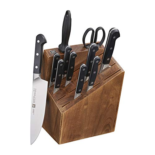 ZWILLING J.A. Henckels 38435-000 Zwilling Pro 12 Piece Block Knife Set, Black