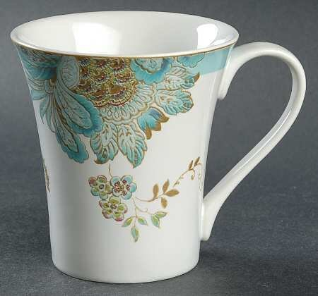 222 Fifth Eliza Spring Turquoise Coffee Mugs - Set of 4