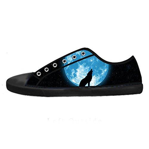 Scarpe Women's Tetto Shoes Delle Luna Ginnastica Da Canvas Lupo E Lacci Alto I Custom Zq6zgf