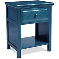 Mantua Cottage Style Nightstand, Wedgewood Blue, Standard