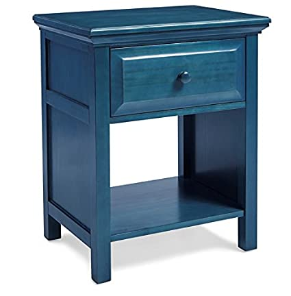 cottage style end tables nautical style mantua cottage style wedgewood blue nightstand perfect for seaside and country décor can be amazoncom