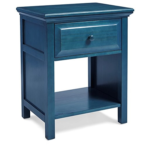 Mantua Cottage Style Wedgewood Blue Nightstand, Perfect for Seaside and Country Décor, Can be Used as a Nightstand or End Table