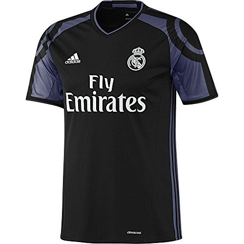 adidas Real Madrid Men's Third Jersey 2016-17(Black/Purple) (S)