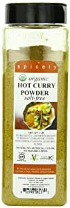 Spicely Organic Curry Powder, Hot, 16 Ounce