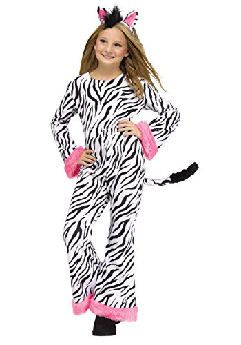 Girls Zebra Diva Costume Medium