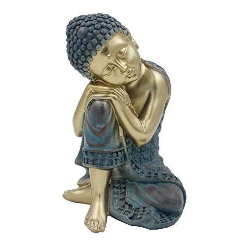 Altar Statue Sculpture (DharmaObjects Napping Buddha Thai Ivory Good Luck Asian Art Decor Statue)