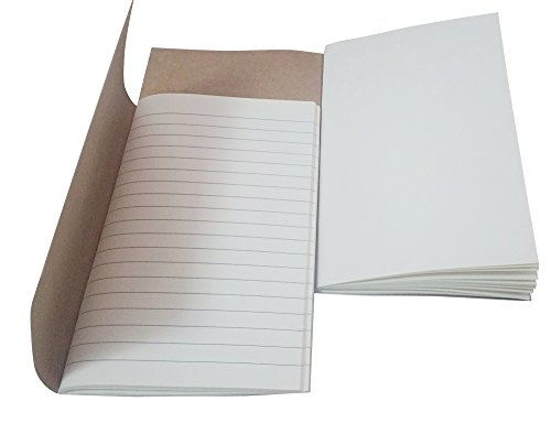 """7Felicity Refill books For Classic Genuine Leather Notebook 5.3"""" × 4"""" – Two in one package(Refill for Pocket Size)"""