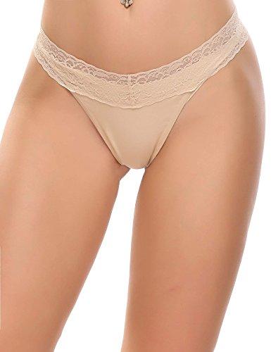 6er Pack Damen Pantys Unterwäsche Hot Pants Dessous Hipster Boxershorts mit Karo Spitze