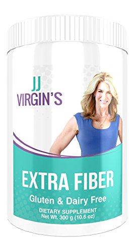 JJ Virgin - Extra Fiber, Superior Quality Fiber Containing 12 Different Types of Fiber, 10.6 Ounces