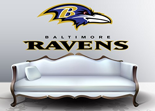 Baltimore Ravens sticker, Baltimore Ravens decal, Ravens decal, Ravens sticker, Baltimore Ravens home decor, Baltimore Ravens bumper sticker, Ravens NFL sticker, Ravens bumper decal vmb10 (22x32)