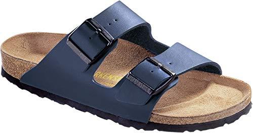 Custom Watch Straps - Birkenstock BIRK-51751 Arizona Leather Sandals, Blue, 39